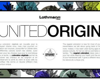 Texte united origin couleur végétale